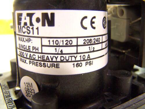 NEW EATON MCS11 PRESSURE SWITCH 160 PSI MCS11FORMCDN 300 V AC 10 AMP