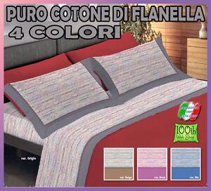 Lenzuola Singole Di Flanella.Completo Lenzuola Singolo Di Flanella 4 Colori Caldo Flanellate