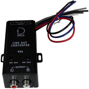 Dietz-906-Aktives-High-Low-Converter-Interface-Adapter-2-Kanal-mit-Remote