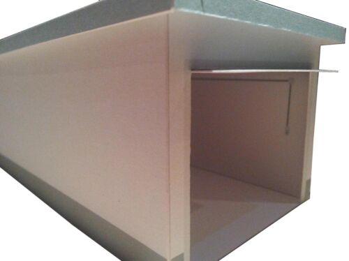 Garage 1:60 mit Schwingtor und Innendetails Kartonmodellbausatz