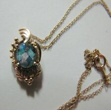 "10K Gold Black Hills Gold Opal Pendant, Mosaic Necklace 18"" Gold Chain,  2.2g"
