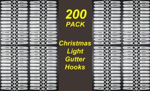 200 Pack Gutter Hooks Clips for Christmas Fairy Lights