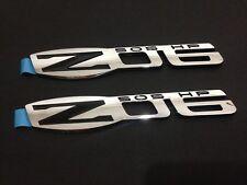 Black Corvette Z06 Emblem Replaces OEM Fender Trunk Badge ZO6 x1 New Chrome