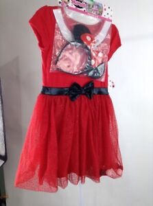 Girls-Minnie-Mouse-Dress-with-Headband-Red-Size-5T
