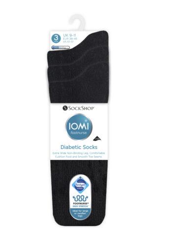Swollen Legs 8 Variations 1 Pair Mens IOMI SockShop Extra Wide Diabetic Socks