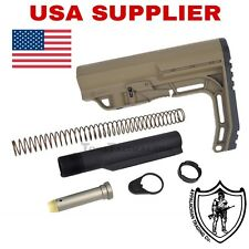 MFT Minimalist Style Buttstock And Mil Spec extension Tube Kit FDE 3oz