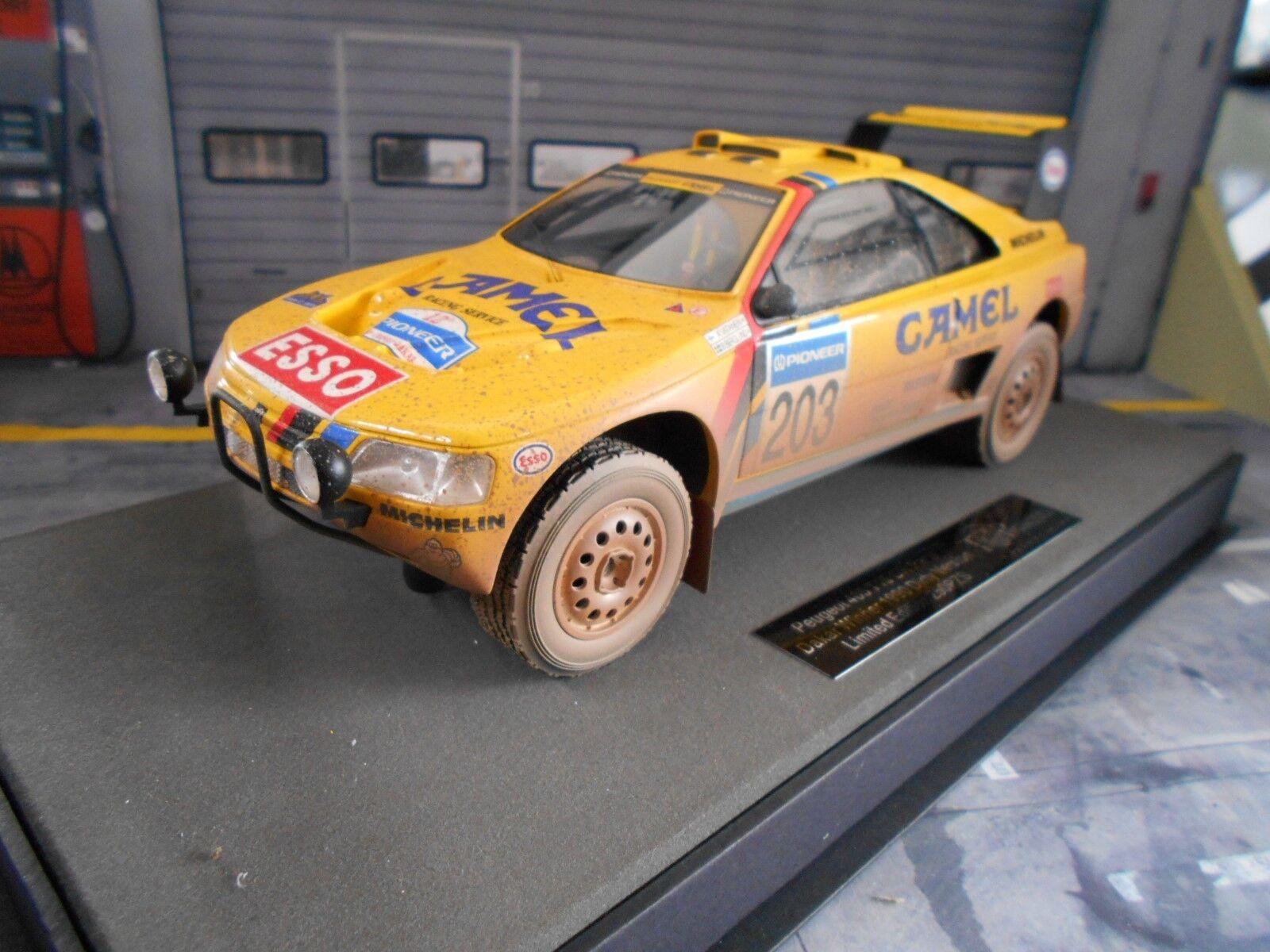 PEUGEOT 405 GT t16 Paris Dakar Winner RAID 1990 Dirty Vatanen Top Marques 1 18