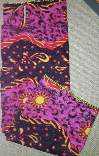 Pareo Stoff wickelrock Afrika wandteppich grün Rot gelb pink Baumwolle