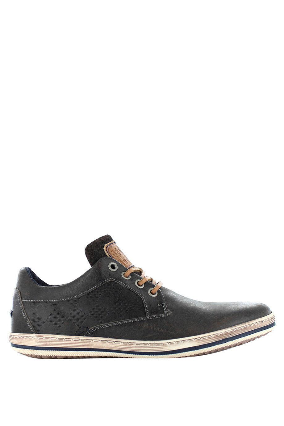 NEW Wild Rhino Cooper Leather Sneaker Grey