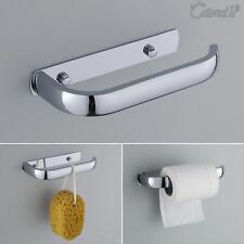 UK Bathroom Toilet Tissue Paper Roll Holder Modern Chrome Square  Tissue Rack