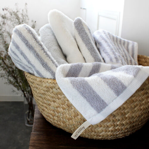 Hiorie Hotel Style Stripe Water-Absorption Bath Towel 2 Sheets Cotton 100/% Japan