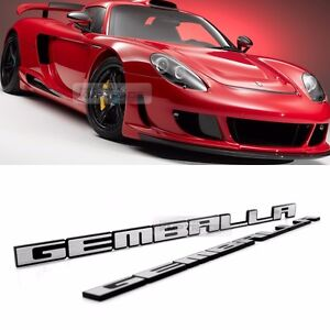 Side Front Trunk Mini Emblem Point GEMBALLA Logo Badge Black 2P for All Vehicle