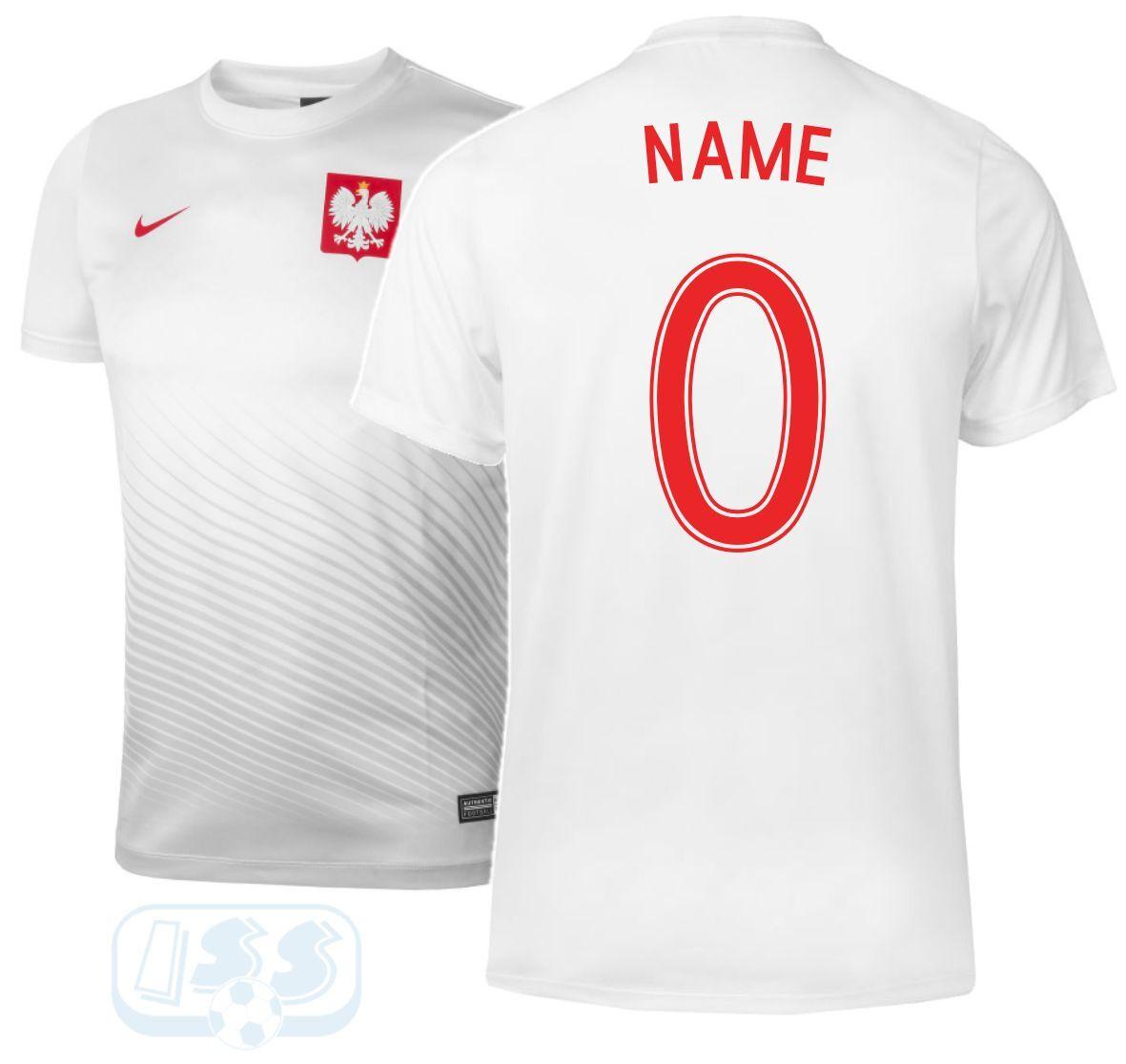 Polen Nike Fan Trikot + Beflockung Weiß Weiß Weiß Auswärts