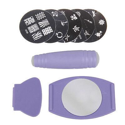 HOT Professional Nail Art Stamp Stamping Polish Nail DIY Design Kit Decoration