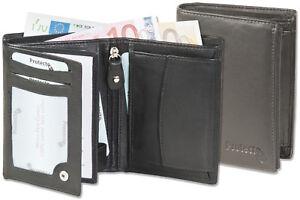 Protecto-Herren-Geldboerse-mit-RFID-Blocker-aus-feinem-Nappa-Leder-in-Schwarz