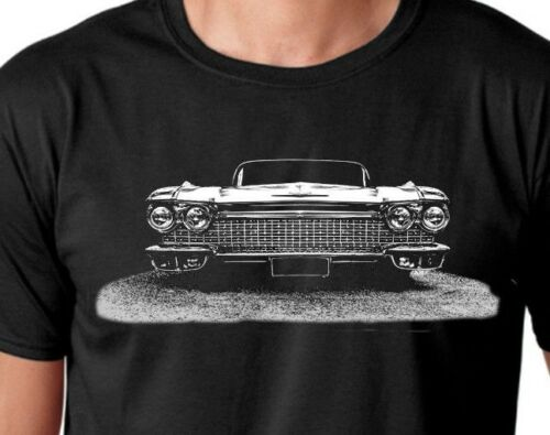 Mens Black light weight summer t-shirts American muscle,Cadillac classic car,