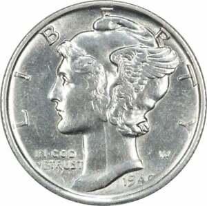 1940-S Mercury Silver Dime AU FREE SHIPPING