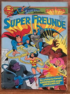 SUPERMAN SUPER FREUNDE ALBUM Nr. 4 Ehapa 1981 Gegen Supergorillas