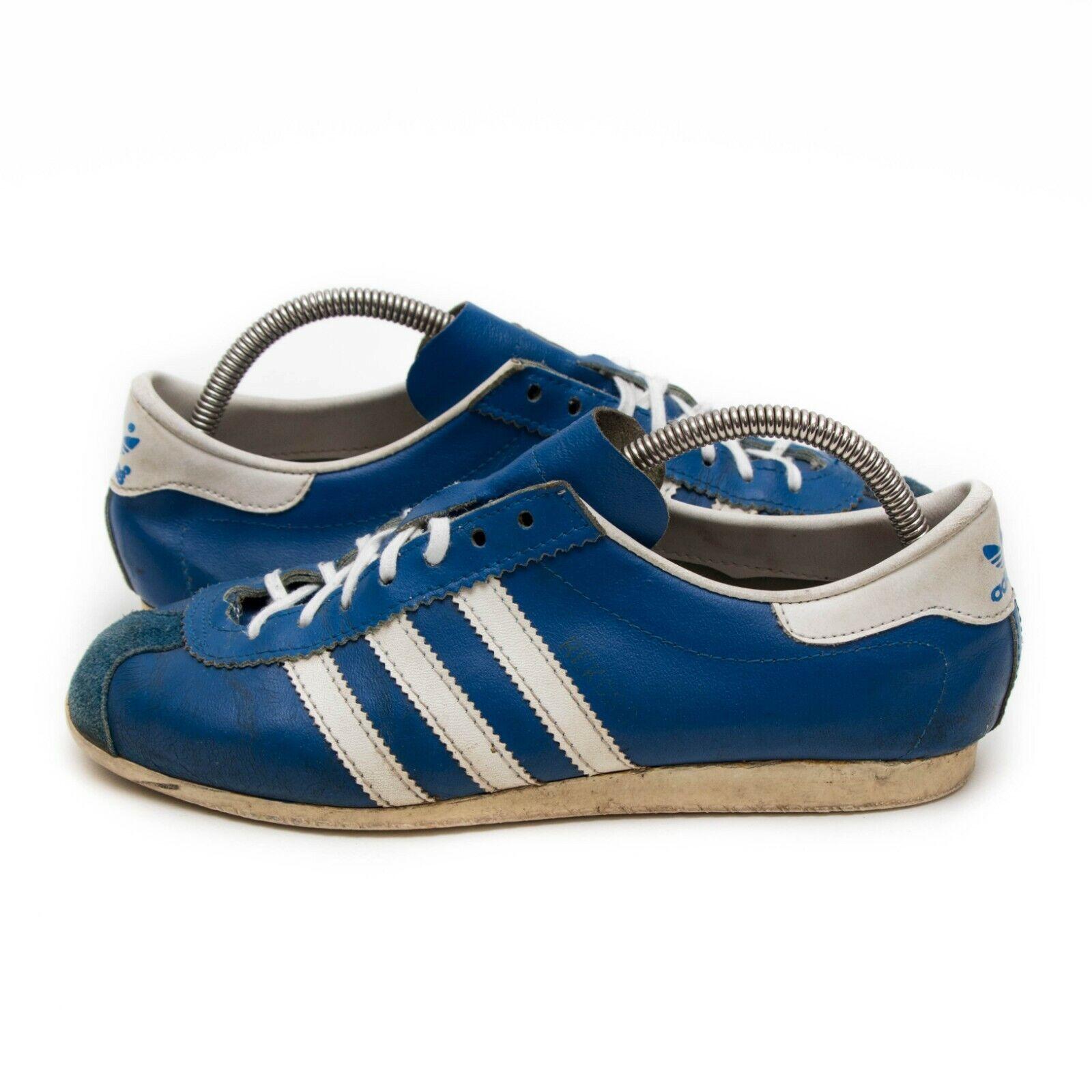 VINTAGE ADIDAS REKORD Schuhe Baby blau weiss