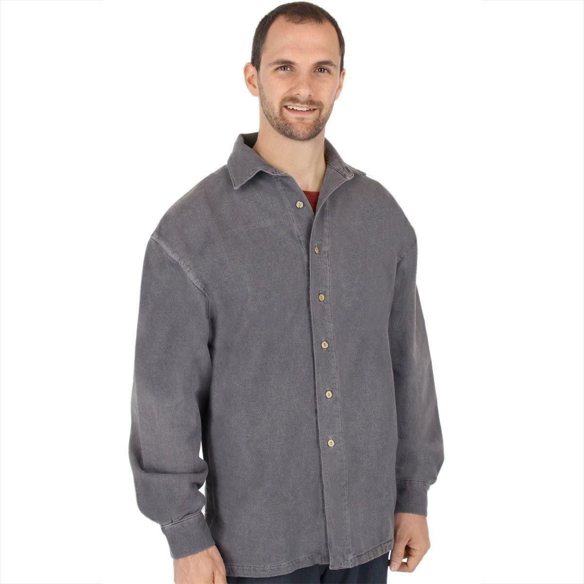 468471e594a Mens Canton Cotton Chamois Shirt - Big Easy - Sea Breeze WEK - 100% Cotton