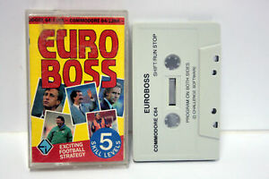 EURO-BOSS-CHALLENGE-SOFTWARE-COMMODORE-64-e-128k-CBM-DATASSETTE-UK-FR1-65532