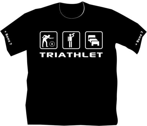 Pool Billard T-shirt tournois billards Cône anniversaire TRIATHLET Funshirt 11