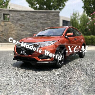 SMALL GIFT!!!!!! Orange Car Model Honda Vezel 2019 1:18