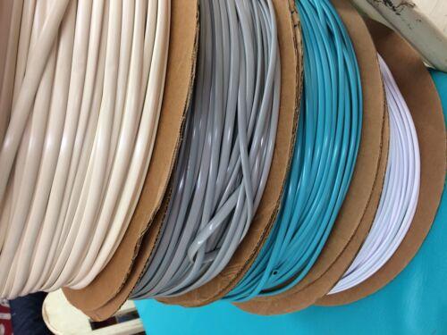25/' Gray Oval Vinyl Cord Spline Strapping Plastic Mid Century Retro Beach Chair
