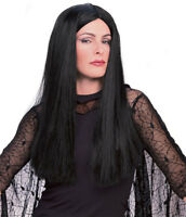 Adult Officially Licensed Addams Family Morticia Wig Adams Womens Black Hair