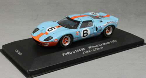 IXO Ford GT40 Gulf Le Mans Winner 1969 Jacky § /& Jackie Oliver LM1969 1//43NEW