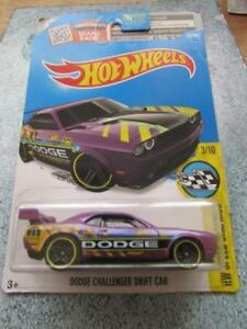 Hot-Wheels-2016-178-250-DODGE-CHALLENGER-VOITURE-DE-DRIFT-Violet-Long-carte