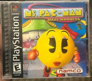 Ms-PacMan-Maze-Madness-Sony-Playstation-1-PS1-Complete-CIB-Pac-man