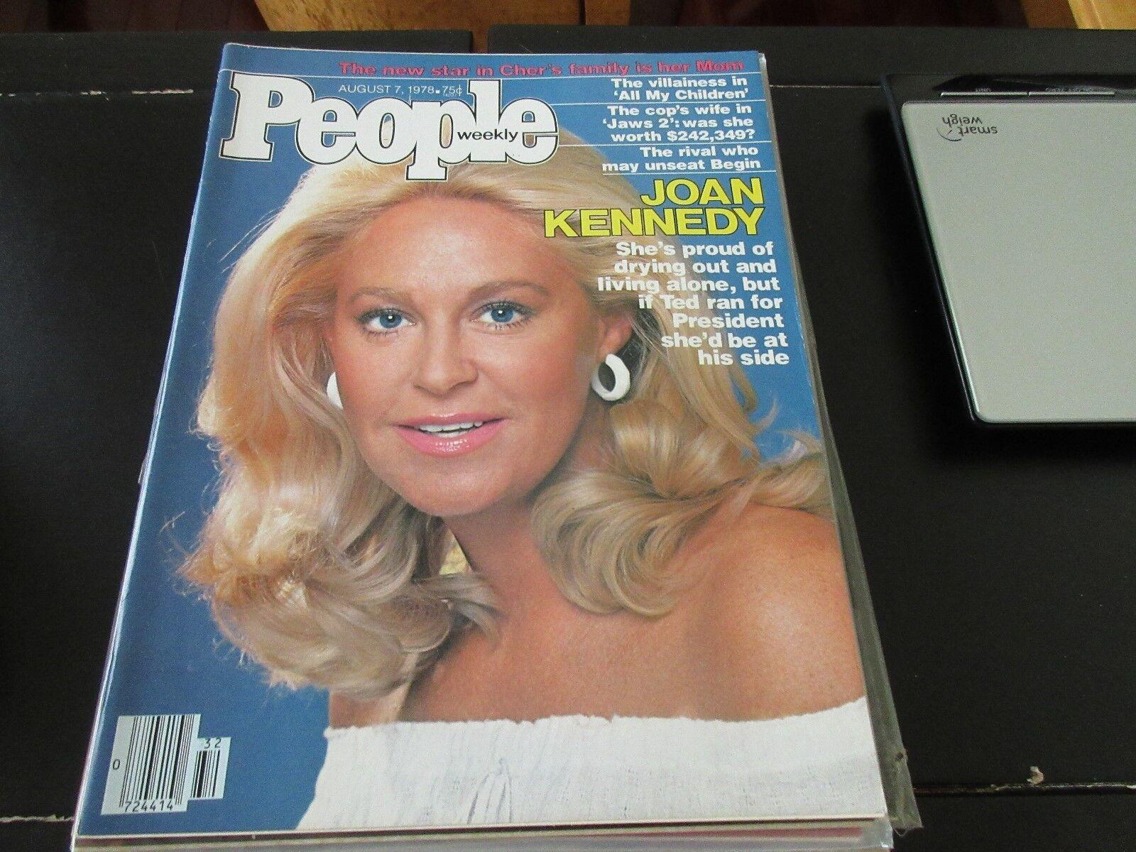 People Weekly , August 7 ,1978 , Joan Kennedy , Cher ,