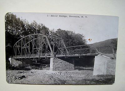 RPPC, BEERSTON, N.Y. Located in Delaware County,Iron Bridge Across The River
