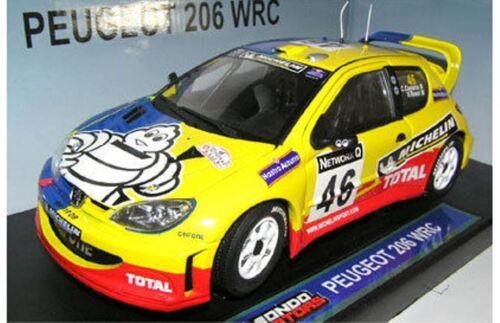 MONDO MOTORS 50003 Peugeot 206 WRC model car rally V Rossi RAC Rally 2002 1:18th
