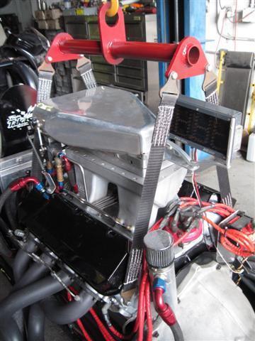 Engine Lifting Strap System 2000 lb Safe Work Load Powder Coated Plattinum