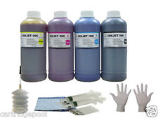 *4X16oz bulk combo kit ink refill for HP Lexmark Dell Canon  Brother +2G/4S