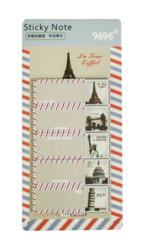 Cute Retro Stamp Page Marker Index Tabs Flags Sticky Note Office School Supplies