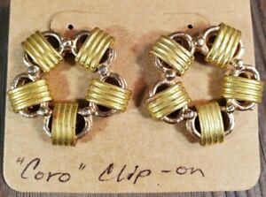 Vintage Gold /& Copper Earrings