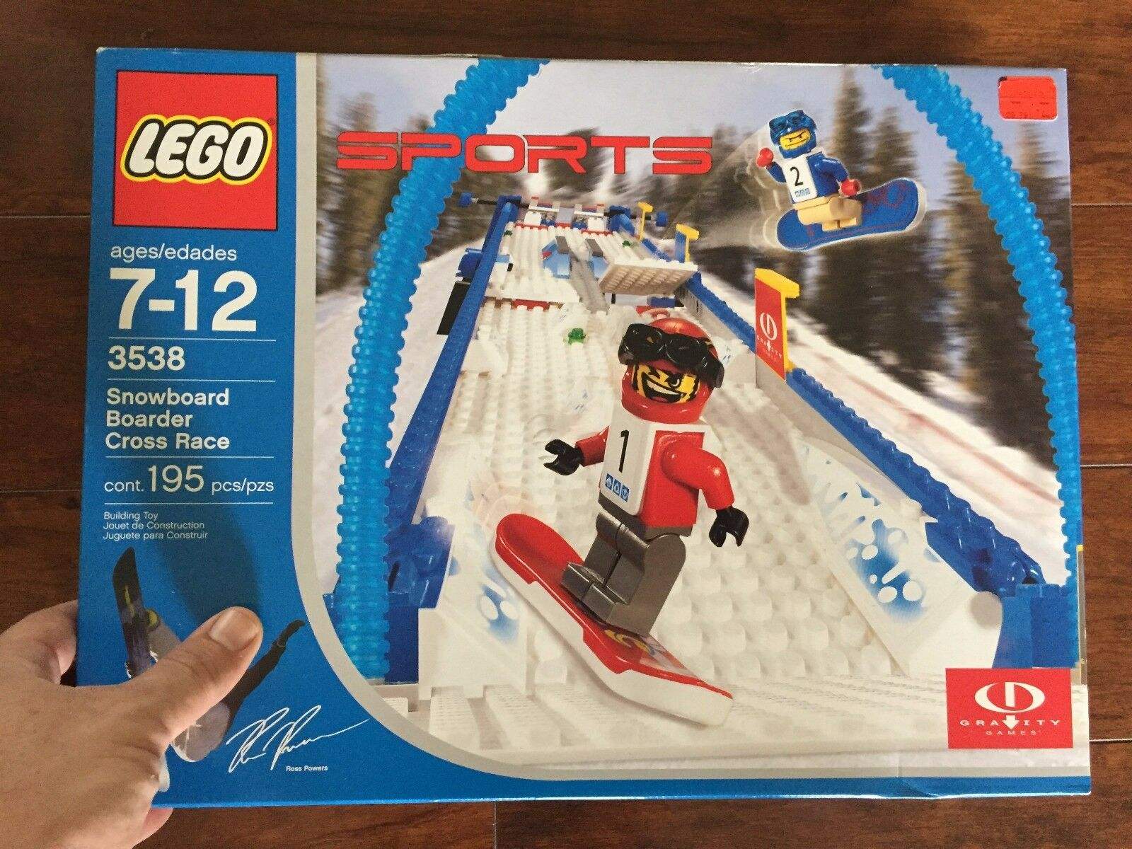Lego 3538 Snowboard Boarder Cross Race 195 Piece Sports Gravity Games VERY RARE