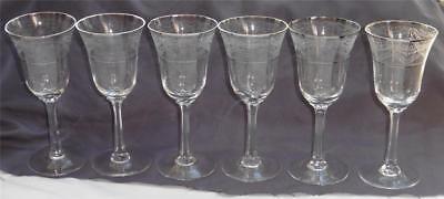 "Lenox /""Fair Lady/"" Platinum Trim//Rim Crystal Wine Glass"