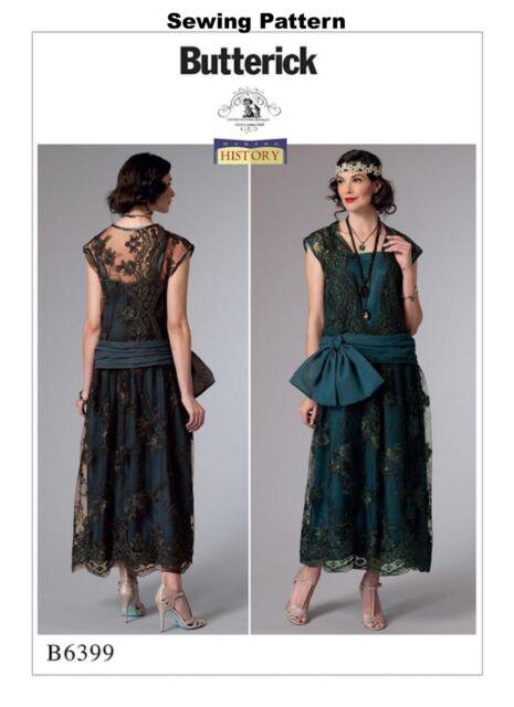 Butterick 6399 Sewing Pattern to Make HISTORIC Drop-waist Dress ...