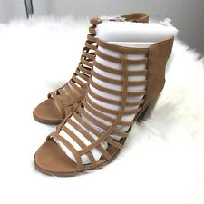 197f115b025d item 4 Soda Women s Open Toe TAN GLADIATOR Stacked Block Heel Ankle Bootie  SIZE 7.5 NEW -Soda Women s Open Toe TAN GLADIATOR Stacked Block Heel Ankle  Bootie ...