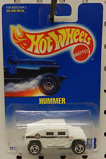 BLUE CARD WHITE POLICE HUMMER 188 DRUG UNIT 1991 1992  HW HOT WHEELS