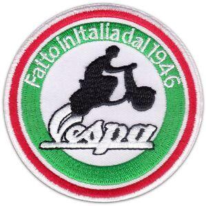 VESPA Piaggio Scooter Motor-Roller Racing Aufbügler Tuning Aufnäher Patch Logo