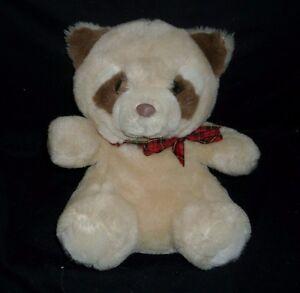 11 Vintage Kids Of America Tan Brown Baby Raccoon Stuffed Animal