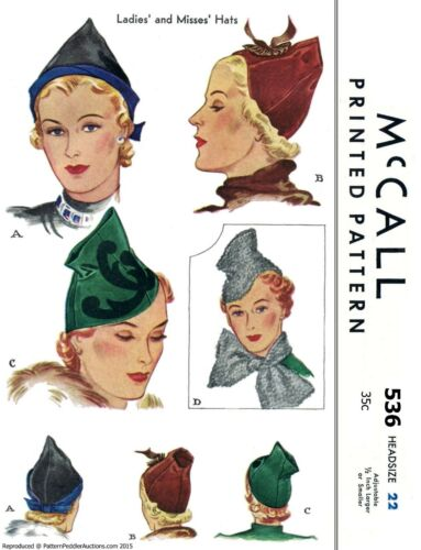 """McCall #536 Hat Cap /& Scarf Fabric Sewing Pattern Chemo Cancer Alopecia 22/"""""""