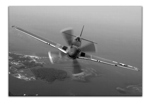Leinwand Bild Wandbild Keilrahmenbild Flugzeug Propellermaschine Meer Landschaft