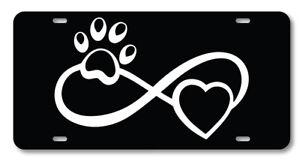 Infinity Paw Print Photo License Plate