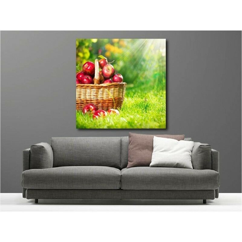Canvas Fabric Deco Square Champ Basket Apple 112894201